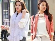 Thời trang - Áo khoác đẹp mang may mắn tới công sở đầu năm