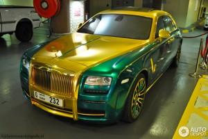 Ô tô - Xe máy - Ngây ngất trước Rolls-Royce Ghost tông vàng-xanh lá