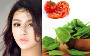 5 loại rau, củ cho làn da sáng đẹp