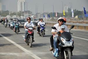 Tin tức Việt Nam - Thêm 4km được thông xe trên cao tốc đẹp nhất Sài Gòn