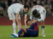 """Bóng đá - Neymar đổ máu sau pha xoạc bóng """"lạnh sống lưng"""""""