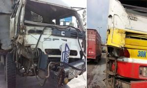 Tin tức Việt Nam - Hà Nội: Xe tải đâm xe buýt chở hơn 20 hành khách
