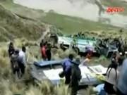 Video An ninh - Peru: Xe buýt lao xuống vực, hàng chục người chết