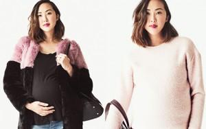 """Thời trang - Bầu 9 tháng vẫn """"đốn tim"""" chị em công sở nhờ mặc đẹp"""