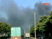 Video An ninh - Bắc Ninh: Cháy lớn ở KCN Quế Võ, khói đen bốc ngút trời