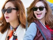 Người mẫu - Hoa hậu - Minh Hằng khoe hàng hiệu đắt tiền khi xuống phố
