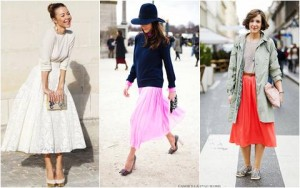 Diện váy midi cho mùa đông thêm quyến rũ