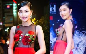 Người mẫu - Hoa hậu - Triệu Thị Hà siêu gợi cảm với váy xuyên thấu