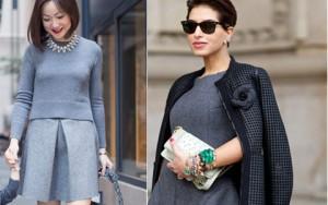 Thời trang - Mặc màu xám đẳng cấp như fashionista