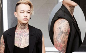 """Thời trang nam - Gặp chàng trai gốc Việt có hình xăm """"khủng"""" trên cổ"""