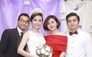 Vân Trang tình tứ với bạn trai trong tiệc cưới Huỳnh Đông