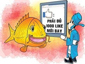 """Tranh vui - Phát cuồng với """"like"""" trên mạng xã hội Facebook"""