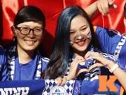 Ảnh bóng đá - người đẹp - Fan nữ xinh đẹp tưng bừng ăn mừng chiến thắng ở phố Núi