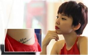 Ca nhạc - MTV - Tóc Tiên diện yếm đỏ, quyến rũ khoe hình xăm
