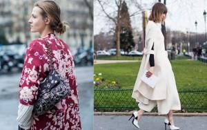 Áo khoác dài kiêu hãnh trên phố Paris ngày đông giá