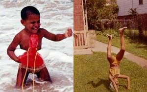 Tin tức trong ngày - Vợ chồng TT Obama bất ngờ tung ảnh độc thời thơ ấu