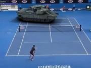 Thể thao - Clip chế: Djokovic đánh bại xe tăng chiến đấu