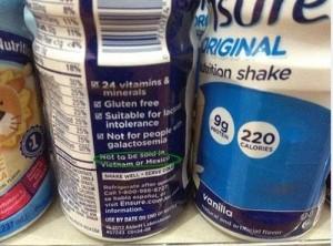 """Sức khỏe đời sống - Sữa Ensure ghi nhãn """"không bán tại VN"""" mà vẫn được lưu hành là sữa giả"""