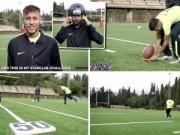 Bóng đá - Neymar trổ tài sút bóng bầu dục ở khoảng cách 55m