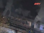 Video An ninh - Tai nạn tàu điện ở New York, ít nhất 6 người chết
