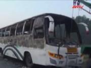 An ninh thế giới - Bangladesh: Xe buýt bị ném bom xăng, 7 người chết cháy