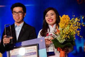 Ngôi sao điện ảnh - Cặp đôi học trò của Cẩm Ly đăng quang cuộc thi hát