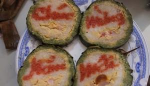 """Thị trường - Tiêu dùng - Bánh tét cắt ra thấy chữ: Quà """"độc"""" hút hàng ngày Tết"""
