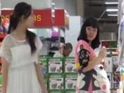 """An ninh Xã hội - Camera giấu kín: Giả làm bà bầu """"cuỗm"""" đồ trong siêu thị"""