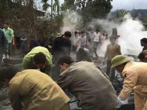 Tin tức trong ngày - Nghệ An: Lửa bùng phát, thiêu rụi nhà sàn 6 gian