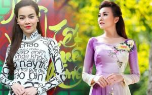 Thời trang bốn mùa - Mỹ nhân Việt nô nức mặc áo dài chào Xuân Ất Mùi