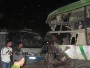Video An ninh - Xe khách đối đầu, 10 người chết, 11 người bị thương