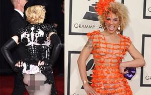 Thời trang - Váy áo hở hang, quái đản tràn ngập thảm đỏ Grammy
