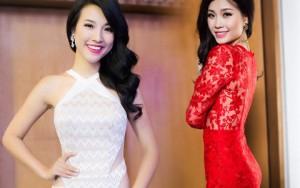 Người mẫu - Hoa hậu - Á hậu Hoàng Oanh, Diễm Trang đọ dáng với váy bó sát