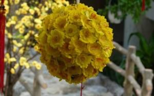 8X + 9X - Cách làm quả cầu hoa mai vàng trang trí nhà ngày Tết