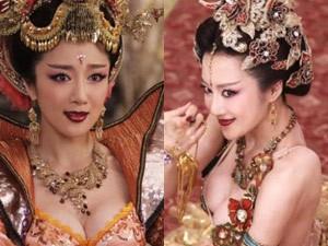 Hậu trường phim - Phim cổ trang TQ bị chỉ trích vì khoe ngực hơn Võ Mị Nương