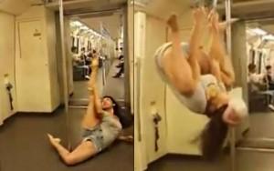 Video clip làm đẹp - Người đẹp Thái Lan gặp rắc rối vì múa cột trên tàu
