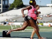 Thể thao - Sốc với bà bầu 8 tháng vẫn thi chạy 800m