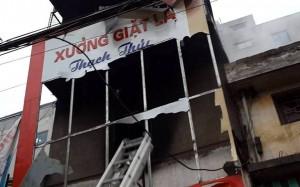 Tin tức Việt Nam - Cháy cửa hàng giặt là, hàng xóm tưởng luộc bánh chưng