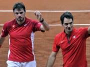 """Tennis - Những hình ảnh ấn tượng nhất 2014: Federer & Wawrinka """"song kiếm hợp bích"""" (P3)"""