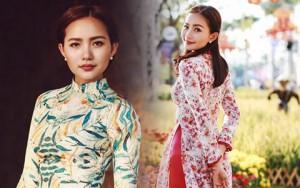 Thời trang - Phan Như Thảo đẹp nao lòng trong tà áo dài nền nã