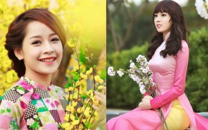 Thời trang - Mỹ nữ Việt đẹp ấn tượng bên hoa cỏ mùa xuân