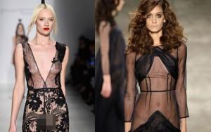 Thời trang - Váy áo trong suốt gợi cảm phủ kín sàn diễn New York