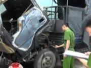 """Video An ninh - Hai xe tải bốc cháy khi đang """"nghỉ Tết"""""""