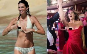 Thời trang bốn mùa - Sao bối rối vì lỗi váy áo hớ hênh
