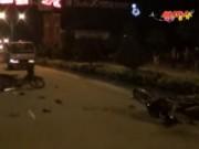 Video An ninh - Xe máy đối đầu trong đêm, 4 người nguy kịch