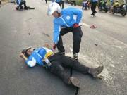 Các môn thể thao khác - VĐV mô tô tử nạn khi bảo vệ đoàn đua ở Đồng Nai
