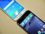 Tin tức công nghệ - Samsung Galaxy S6 đọ dáng iPhone 6 Plus