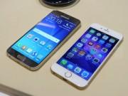 Điện thoại - Samsung Galaxy S6 đặt cạnh iPhone 6