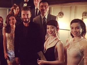 Ca nhạc - MTV - Hà Hồ, Tóc Tiên thích thú tham dự tiệc của David Beckham