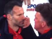 """Video bóng đá hot - Không ăn mừng bàn thắng, Giggs """"ăn đấm"""" của Van Gaal"""